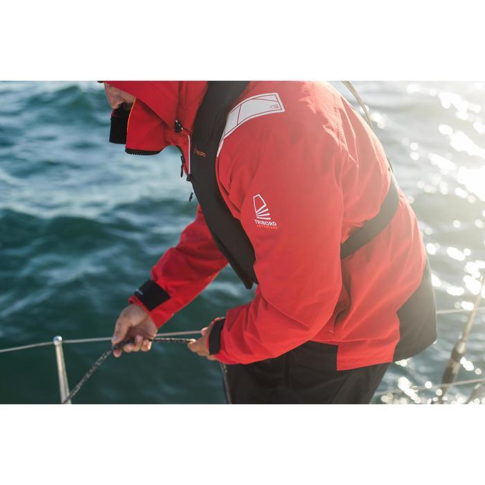 Chaqueta Cortaviento Nautica Vela Ligera Tribord Sailing 500 Hombre Rojo