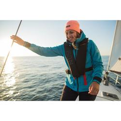 Segeljacke wasserdicht Sailing 500 Damen blau
