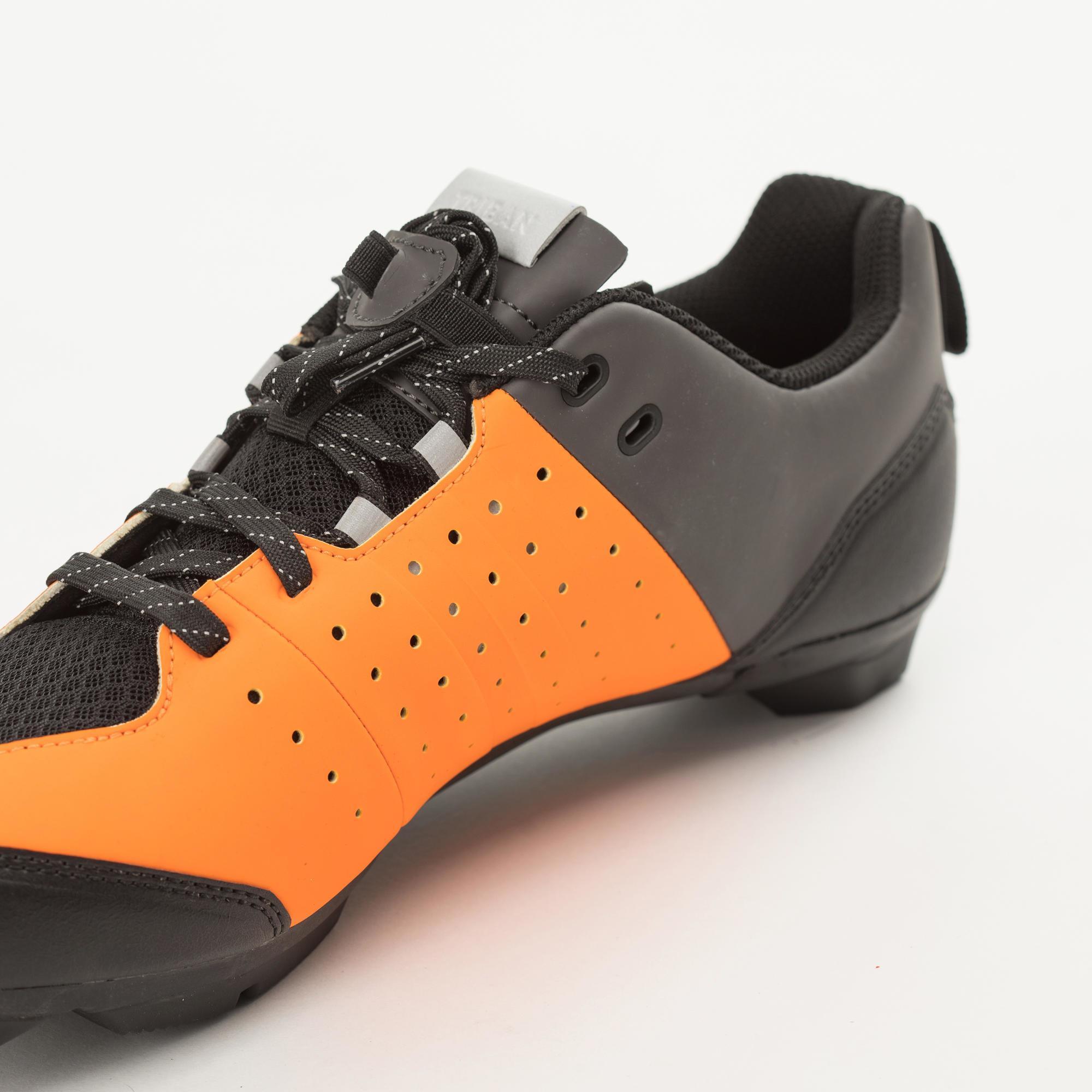 VELO Chaussures de Boxe pour Homme Noir Orange