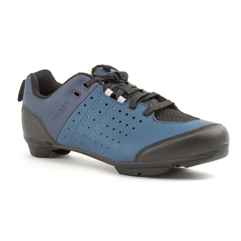 RC500 Lace Up Road Cycling Shoes - Blue/Navy