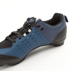 ZAPATILLAS CICLISMO DE CARRETERA SPD TRIBAN RC 500 AZUL MARINO