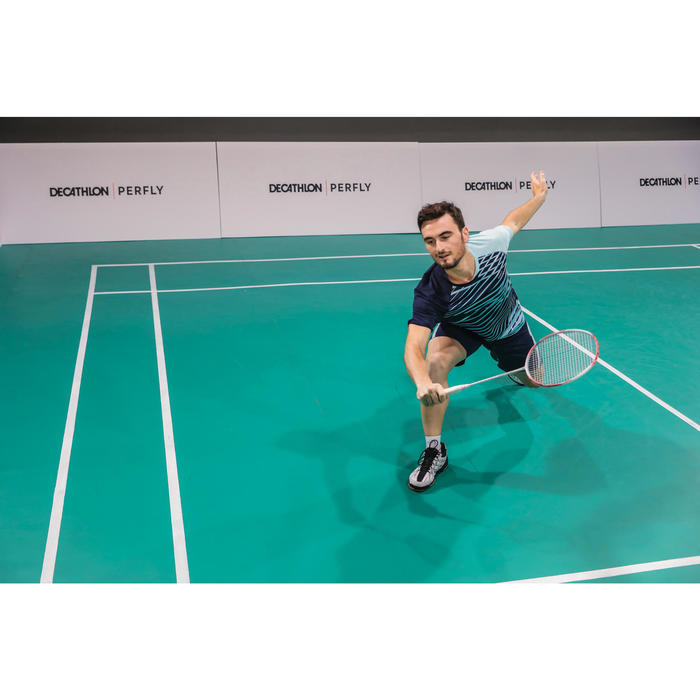 Badmintonschläger BR560 Lite Erwachsene weiß/rot