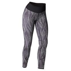 Mallas Leggings Deportivos Yoga Domyos 920 Slim Mujer Reversible Negro/Blanco