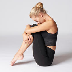 Dynamic Yoga Cropped Bottoms - Black
