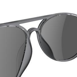 Sonnenbrille Wandern MH120 Kategorie3 Erwachsene grau/schwarz