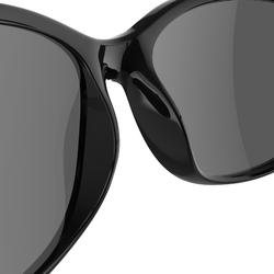 Sonnenbrille polarisierend Wandern MH140 Kategorie3 Damen schwarz