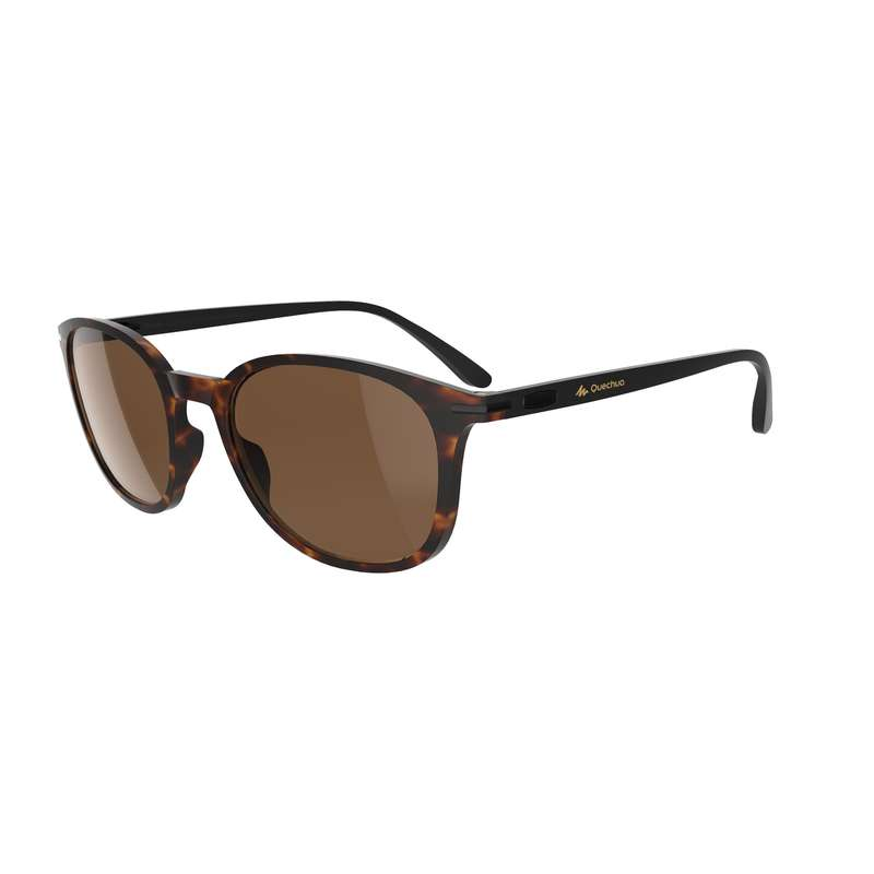 ADULT MOUNTAIN HIKING SUNGLASSES Hiking - MH160 Cat3 - Brown QUECHUA - Hiking