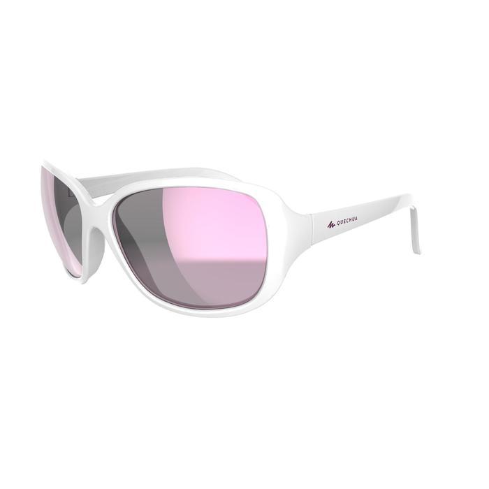 Sonnenbrille polarisierend Wandern MH530 Kategorie 3 Damen weiß