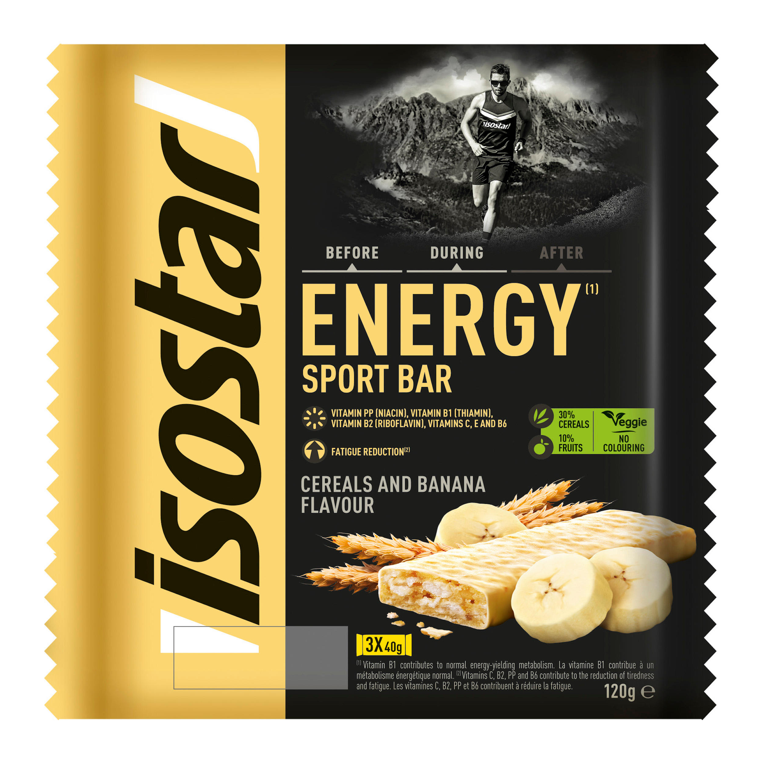 Baton Energysport Banane 3x40g de la ISOSTAR