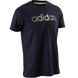 T-Shirt Adidas Decadio 500 Pilates Gym douce homme bleu