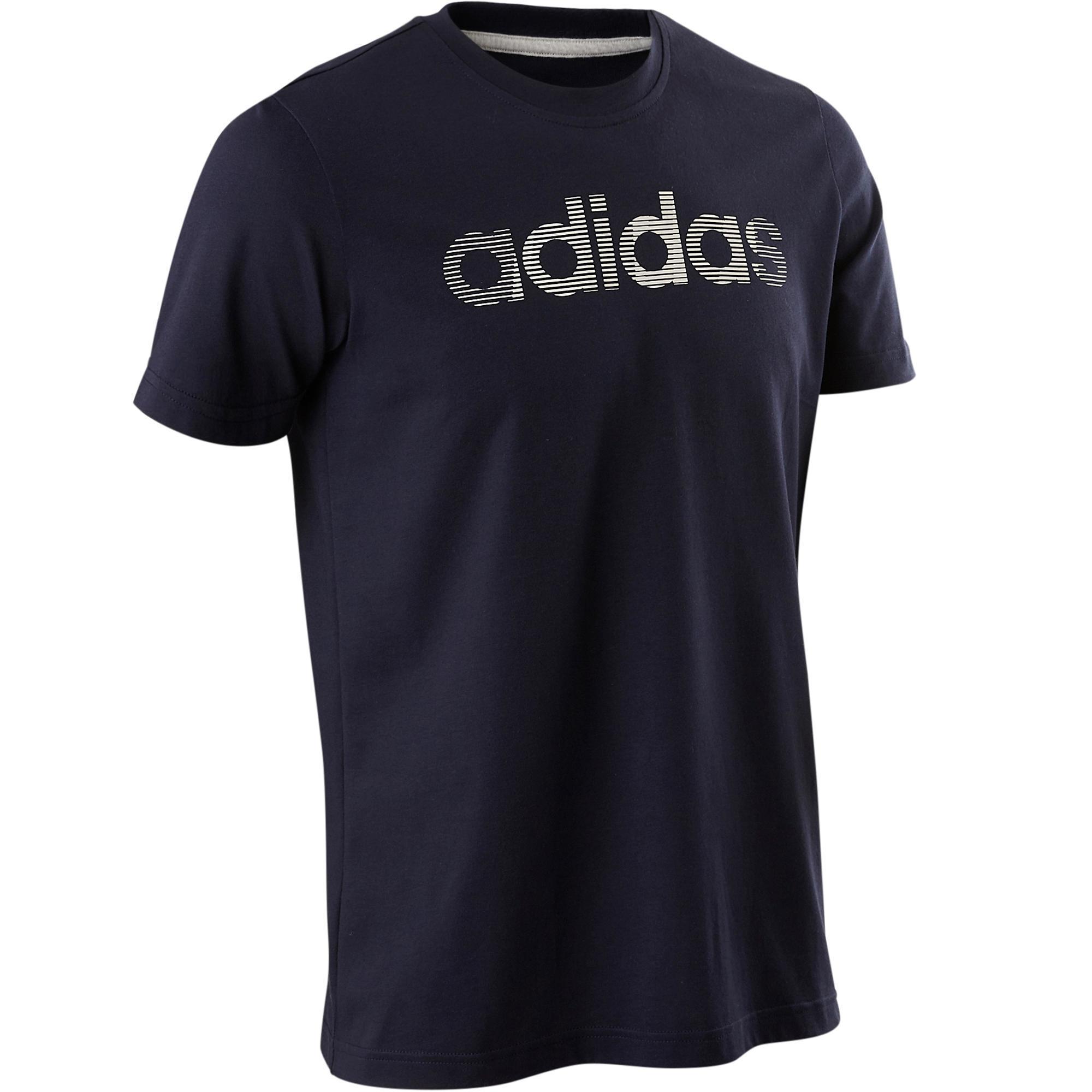Adidas T-shirt Adidas Decadio 500 pilates lichte gym heren blauw