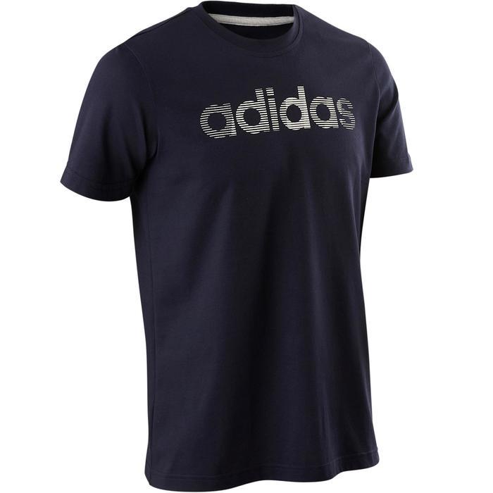 T-shirt Adidas Decadio 500 pilates lichte gym heren blauw
