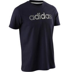 Camiseta Manga Corta Gimnasia Pilates Adidas Decadio 500 Hombre Azul