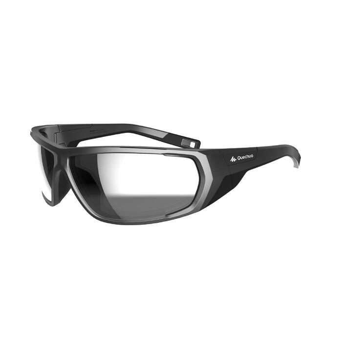 gran descuento 2019 mejor venta nuevo lanzamiento Gafas de sol de senderismo adulto MH570 negro y azul categoría 4
