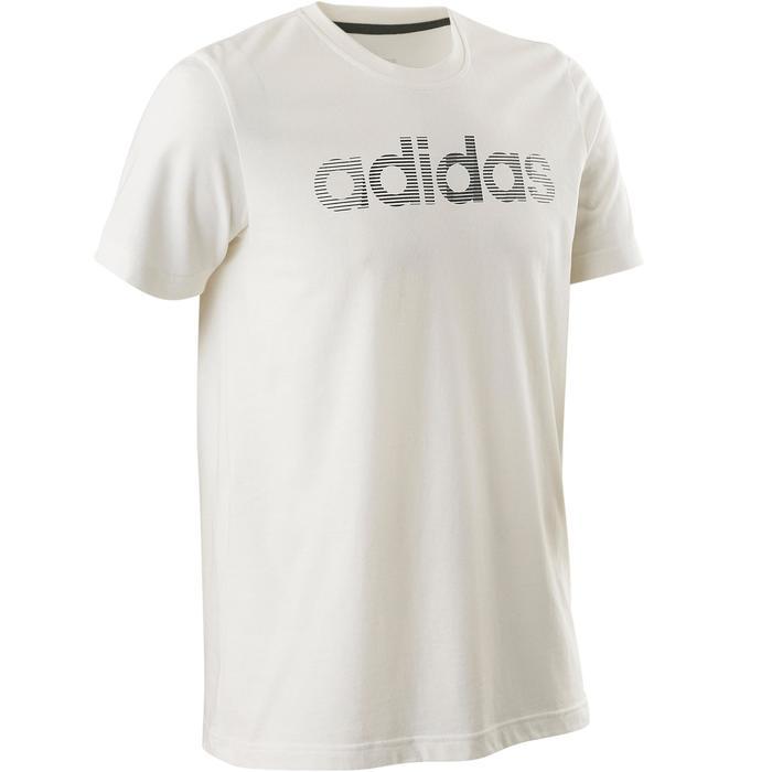 T-shirt Adidas Decadio 100 pilates lichte gym heren wit
