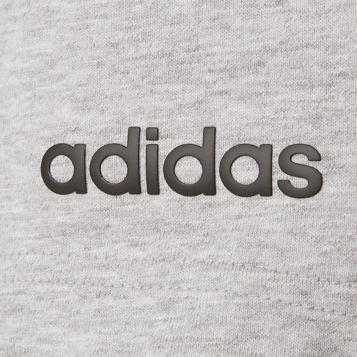 Short Adidas 3S 500 Pilates Gym douce homme gris chiné