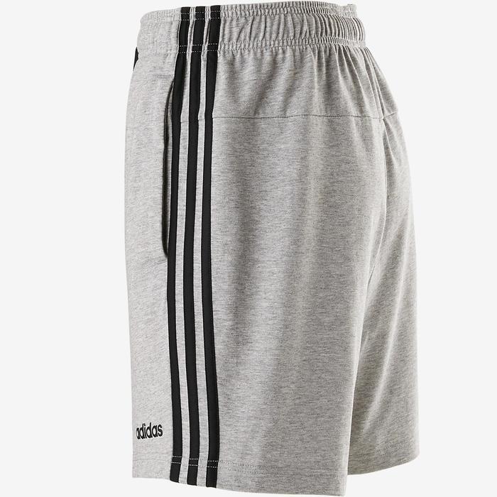 Short Adidas 3 Bandes Gris Chiné