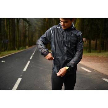 Hardloopjack regen heren regenjack voor hardlopen Kiprun Light geel