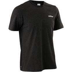 Camiseta Manga Corta Gimnasia Pilates Adidas SS19 Hombre Negro