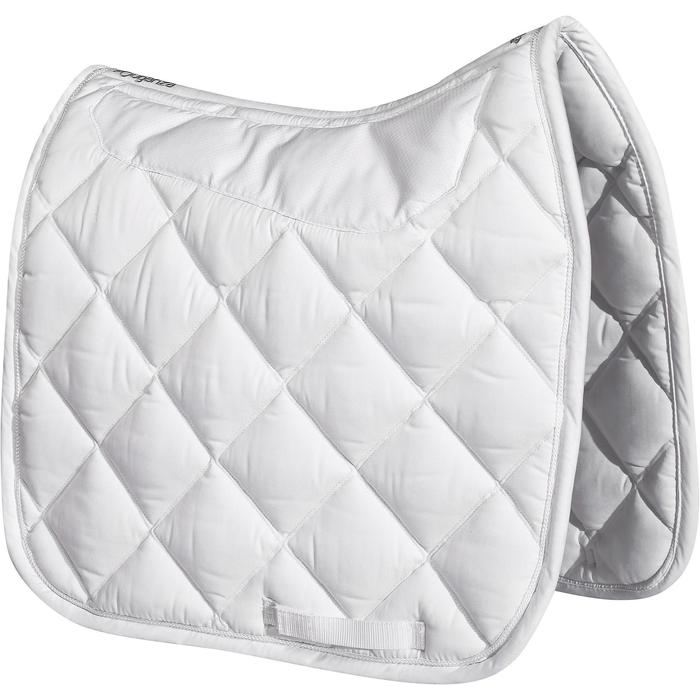 Tapis de selle équitation cheval DRESSAGE GRIPPY blanc