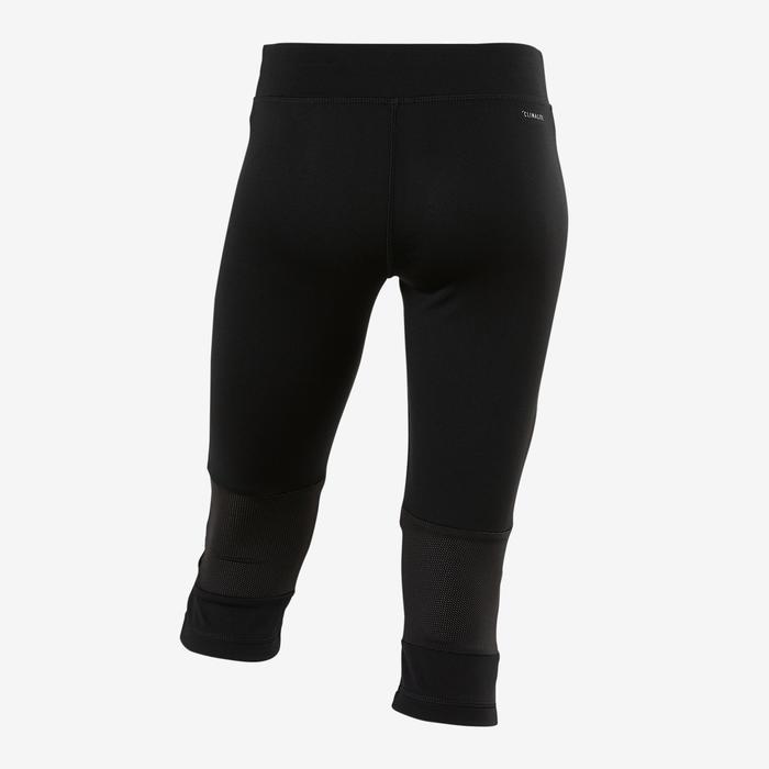 Corsaire fille noir avec logo adidas sur la jambe et une poche pour les clés