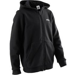 Vest met capuchon jongens gym Adidas-logo op de borst