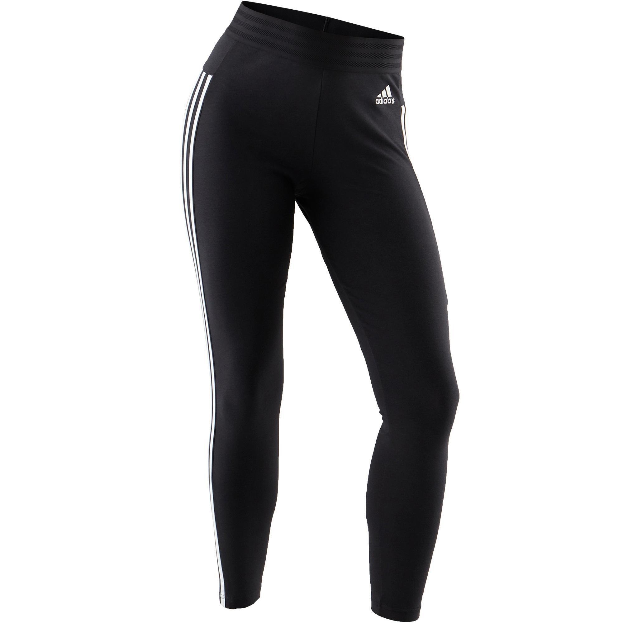 db2635e5b37 Adidas Legging Adidas 3S 500 pilates lichte gym dames zwart/wit kopen met  voordeel