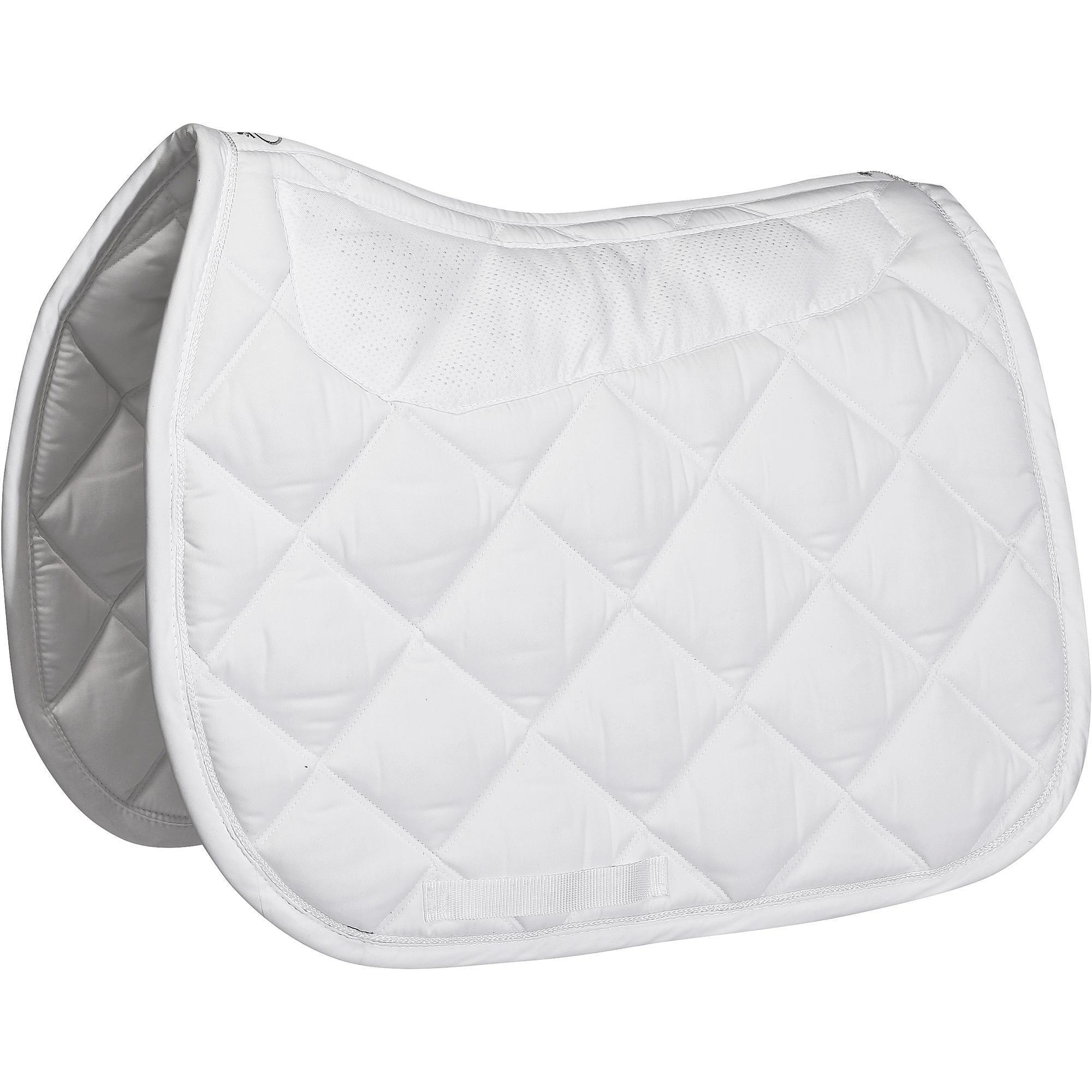 tapis de selle quitation cheval grippy blanc fouganza. Black Bedroom Furniture Sets. Home Design Ideas