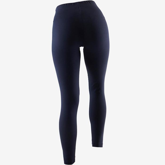 a98245f15538 Mallas Leggings Deportivos Gimnasia Pilates Adidas Linear 500 Mujer Azul  Marino