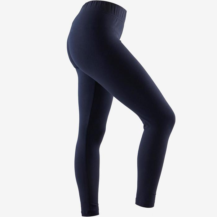 Leggings Linear 500 Slim blau/weiß