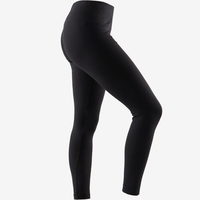 65457b84c302 Mallas Leggings Deportivos Gimnasia Pilates Adidas Linear 500 Mujer Negro
