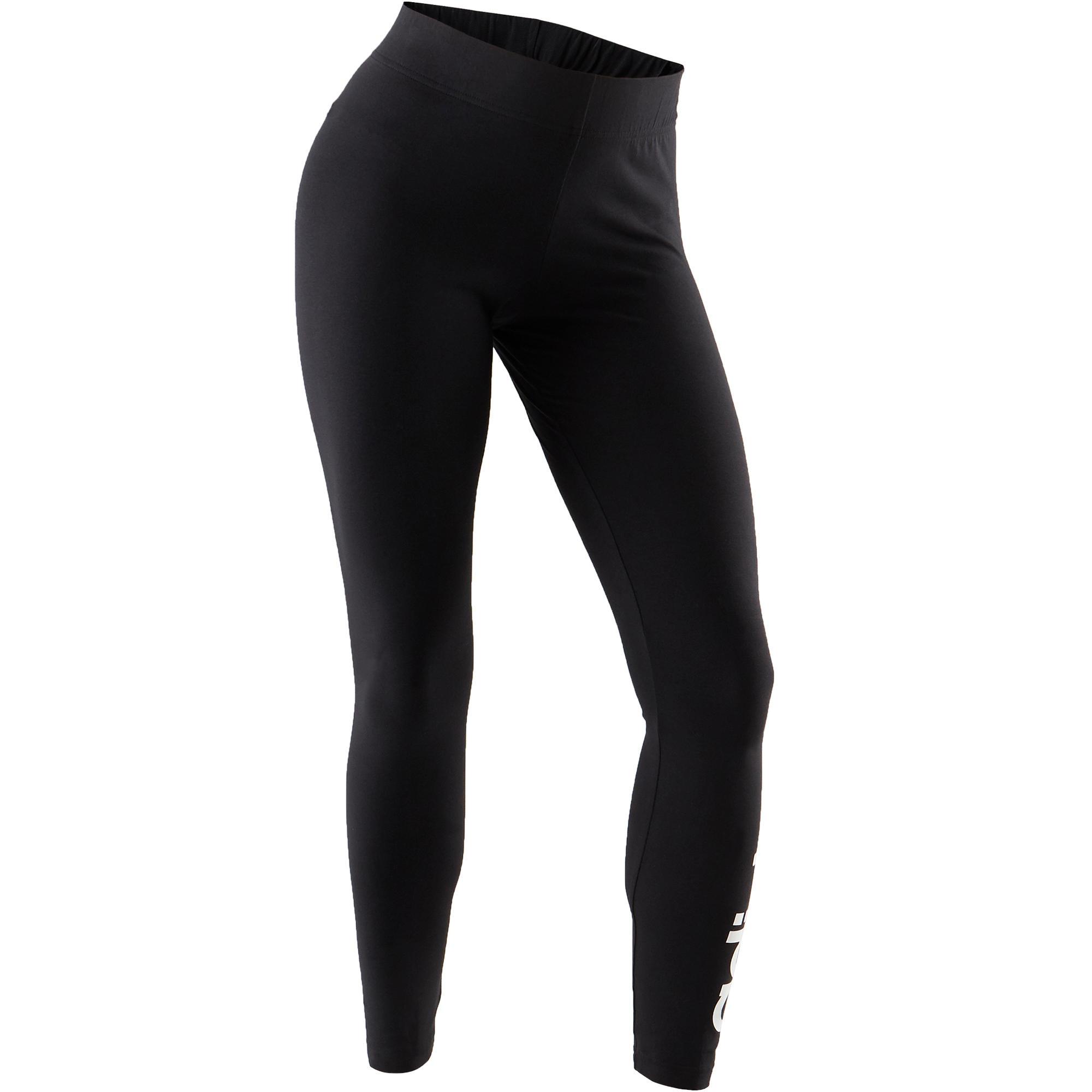 timeless design 2e692 c8c94 Adidas Legging Adidas Linear 500 Pilates Gym douce femme noirblanc   Decathlon