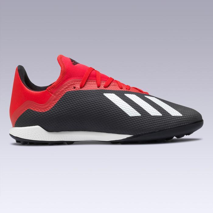 Botas de Fútbol adulto Adidas X 18.3 HG turf negro y rojo