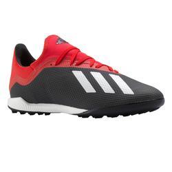 Voetbalschoenen X 18.3 HG voor volwassenen rood zwart