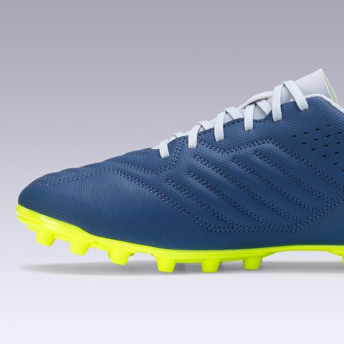 Botas de Fútbol adulto Kipsta Agility 300 FG gris y azul