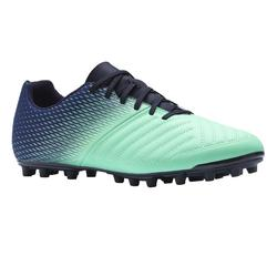 成人款乾地足球鞋Agility 300 FG-藍色/綠色
