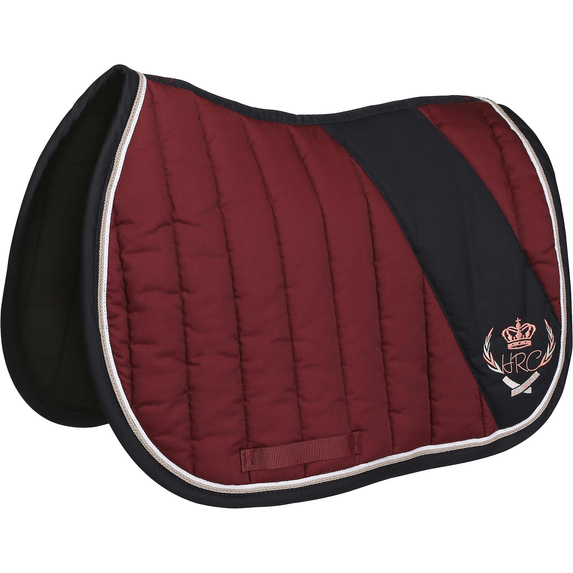 Tapis de selle quitation jump bordeaux taille cheval fouganza Tapis cheval decathlon