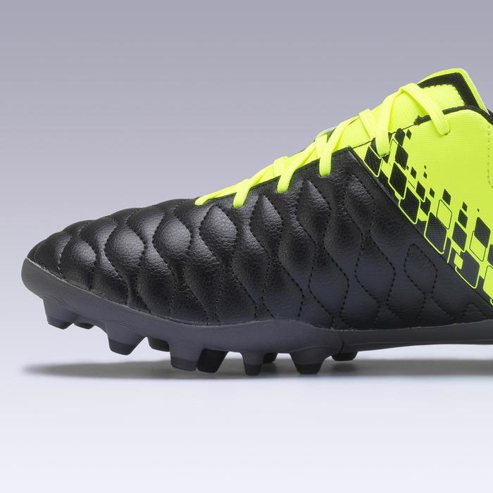 成人款天然草地足球鞋AGILITY 500 MG-黃黑配色