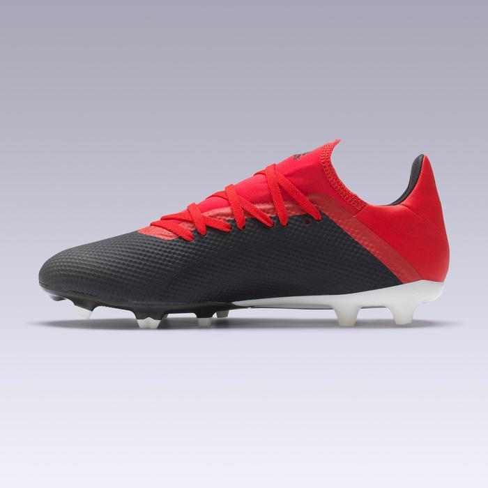 14115930762f6 Botas de fútbol adulto X 18.3 FG negro y rojo Adidas
