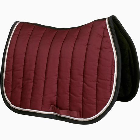 Tapis de selle quitation cheval jump bordeaux fouganza Tapis cheval decathlon