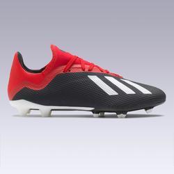 Botas de fútbol adulto X 18.3 FG negro y rojo