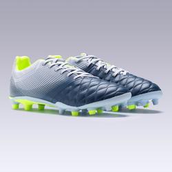 Botas de Fútbol adulto Kipsta Agility 700 piel FG gris
