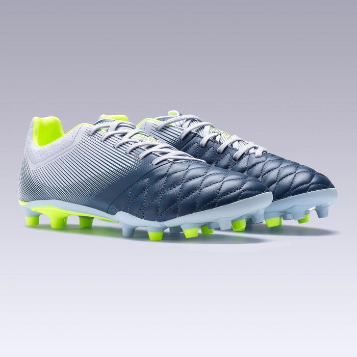 Botas de fútbol adulto terrenos secos Agility 700 piel FG gris
