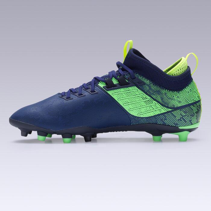 Fußballschuhe Agility 900 Mid FG Nocken Trockenboden Erwachsene blau