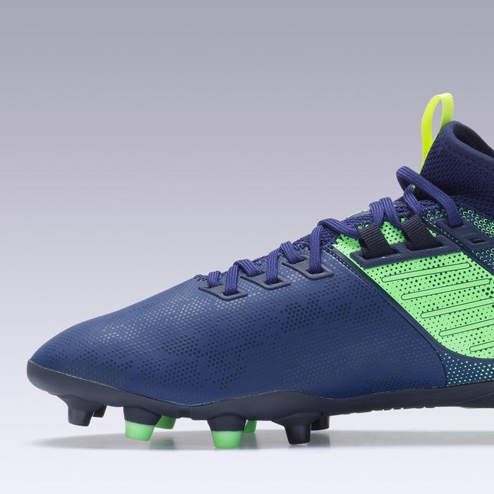 Fußballschuhe Agility 900 Mid FG Nocken Trockenböden Erwachsene blau