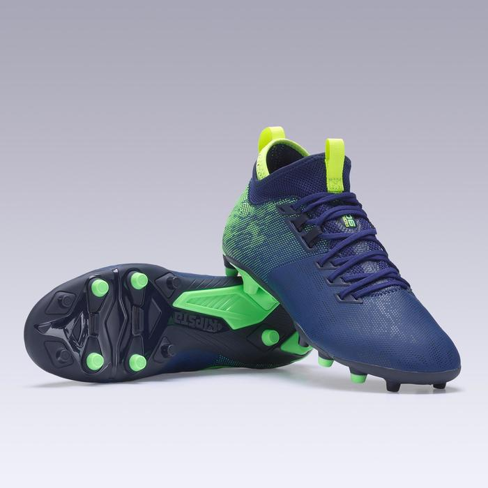 Botas de fútbol adulto terrenos secos Agility 900 MiD FG azules