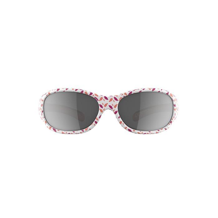 Sonnenbrille Wandern MH120 Kategorie4 Kleinkinder 2-4 Jahre Blumen koralle