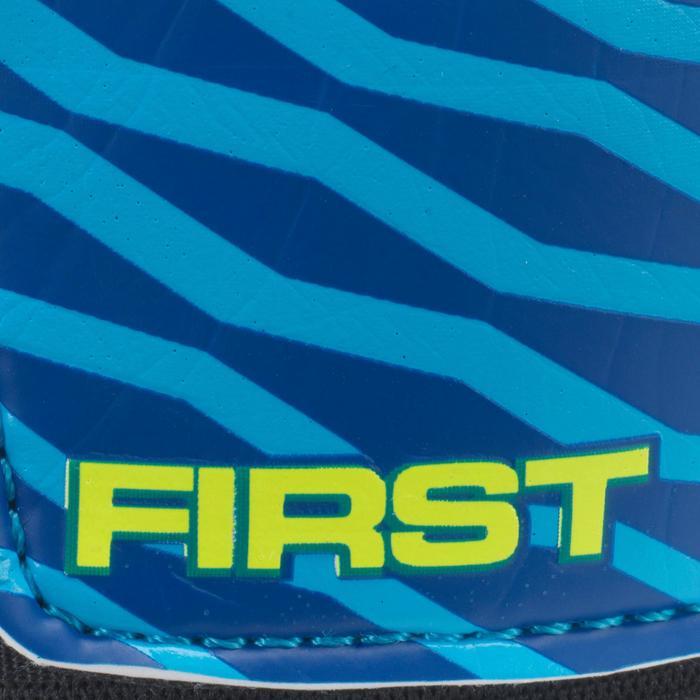 Guantes de portero de fútbol júnior First azul amarillo