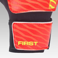 First Soccer Goalkeeper Gloves Orange/Black/Yellow - Kids