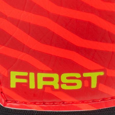 First Kids' Football Goalkeeper Gloves - Orange/Black/Yellow